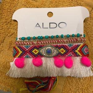 Aldo colorful neon bright bracelet sets